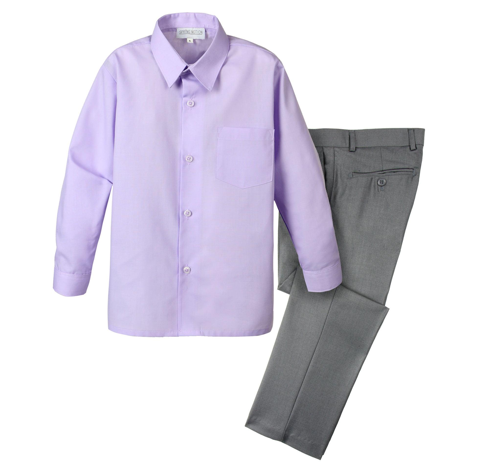 Spring Notion Spring Notion Boys Dress Pants And Shirt Walmart