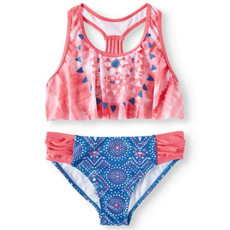 Diamond Flounce Bikini Swimsuit (Little Girls & Big Girls) (Big Bikini)