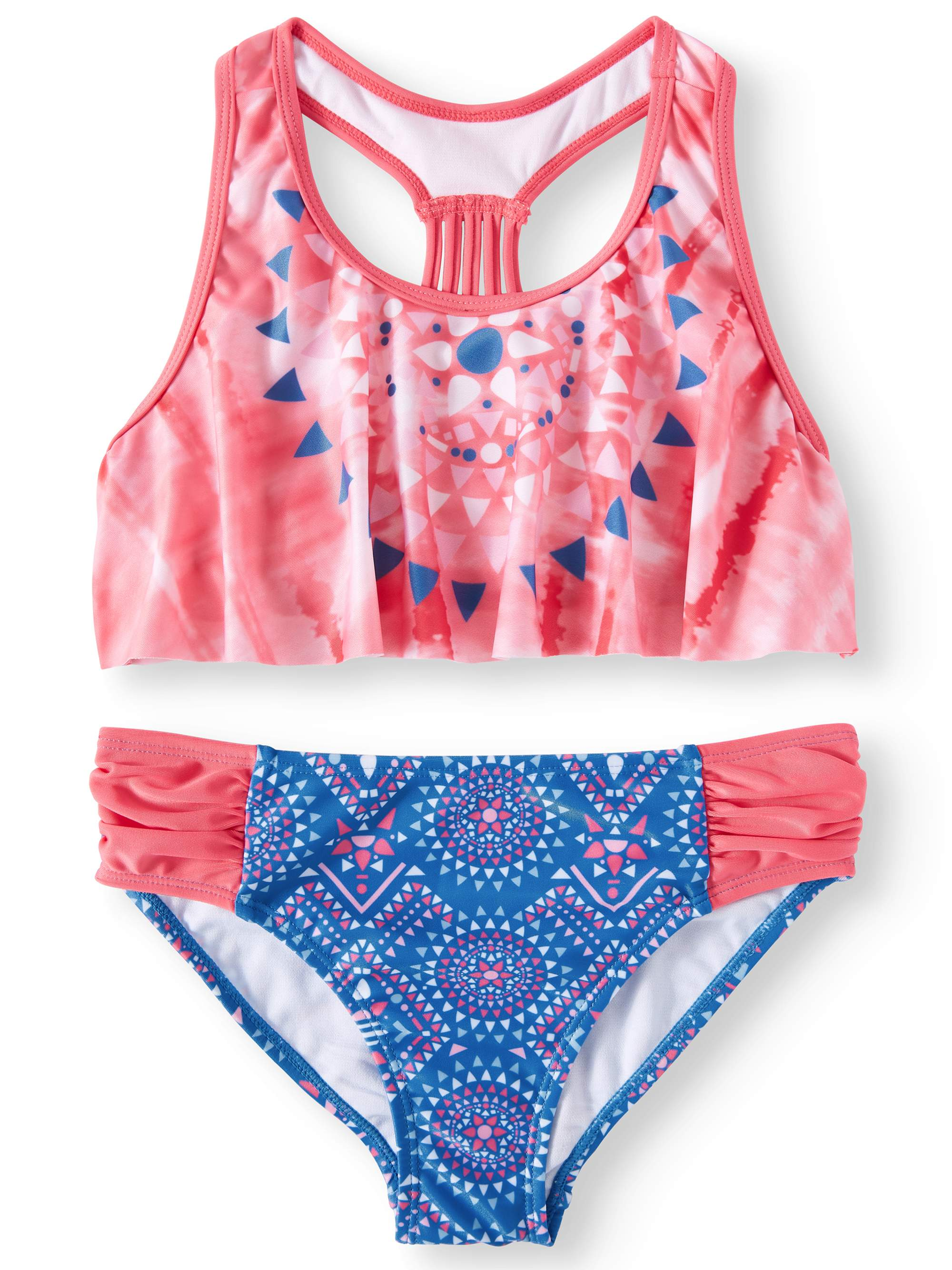 Diamond Flounce Bikini Swimsuit (Little Girls & Big Girls)