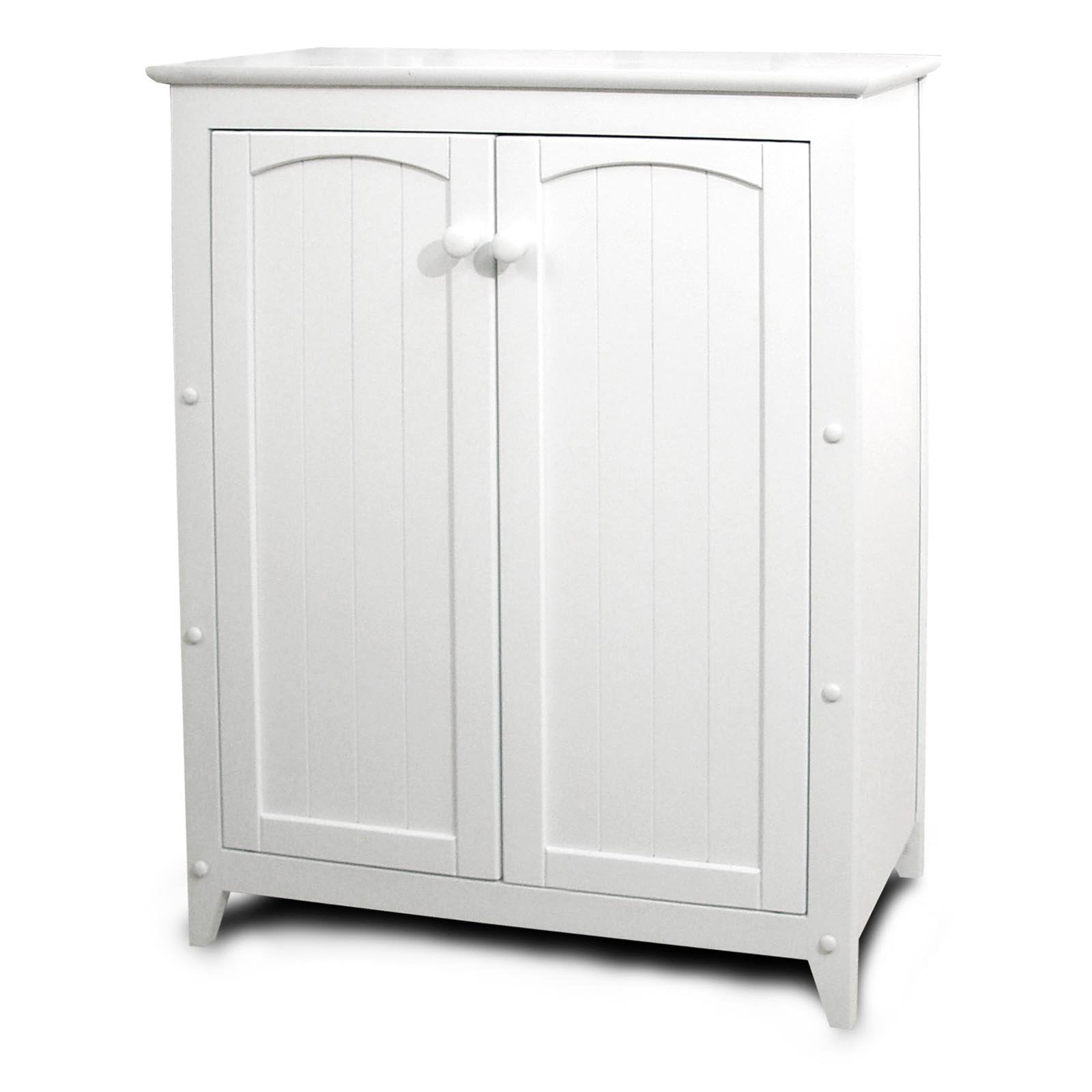 Catskill White All-Purpose Kitchen Storage Cabinet with Double ...