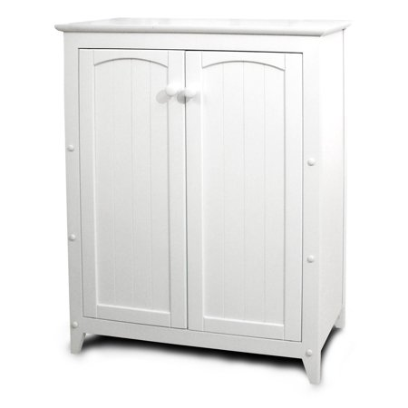 Catskill White All-Purpose Kitchen Storage Cabinet with Double Doors ...