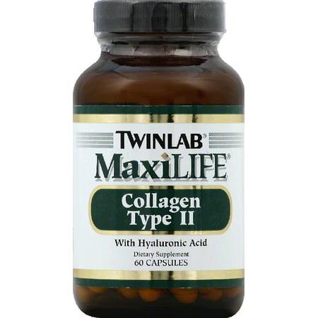 Twinlab collagène de type II, avec l'acide hyaluronique, capsules