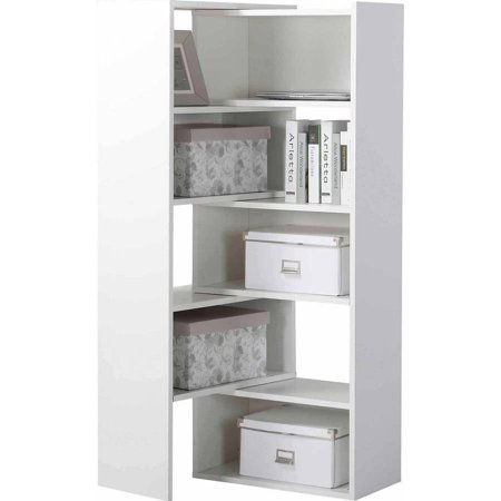 Homestar Flexible and Expandable Shelving Console, White