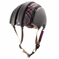 Brooks Carrera Packable - J.B. Collection Dark Grey/Grey Tartan Foldable Helmet Size L