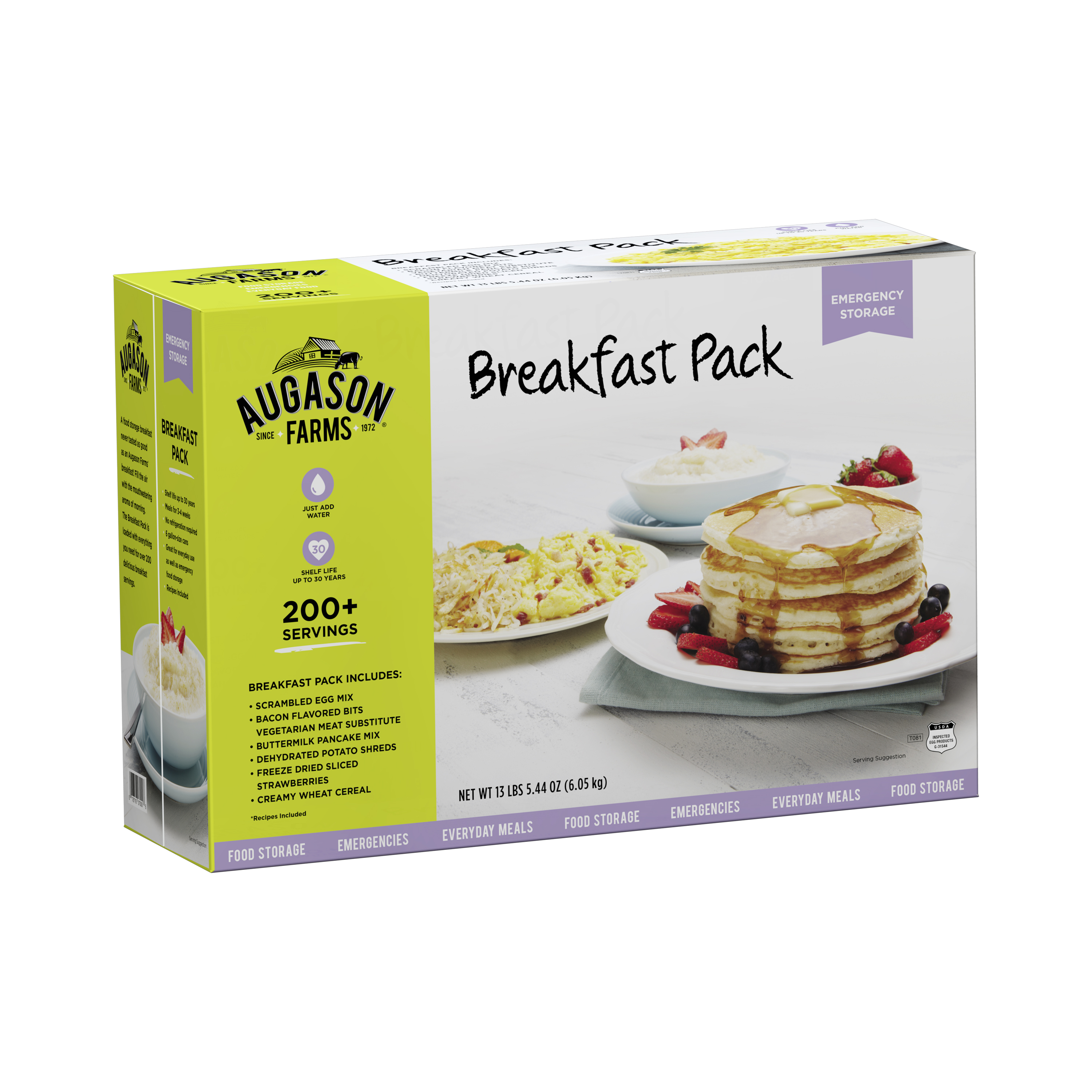 Augason Farms Breakfast Pack Emergency Food Storage Kit