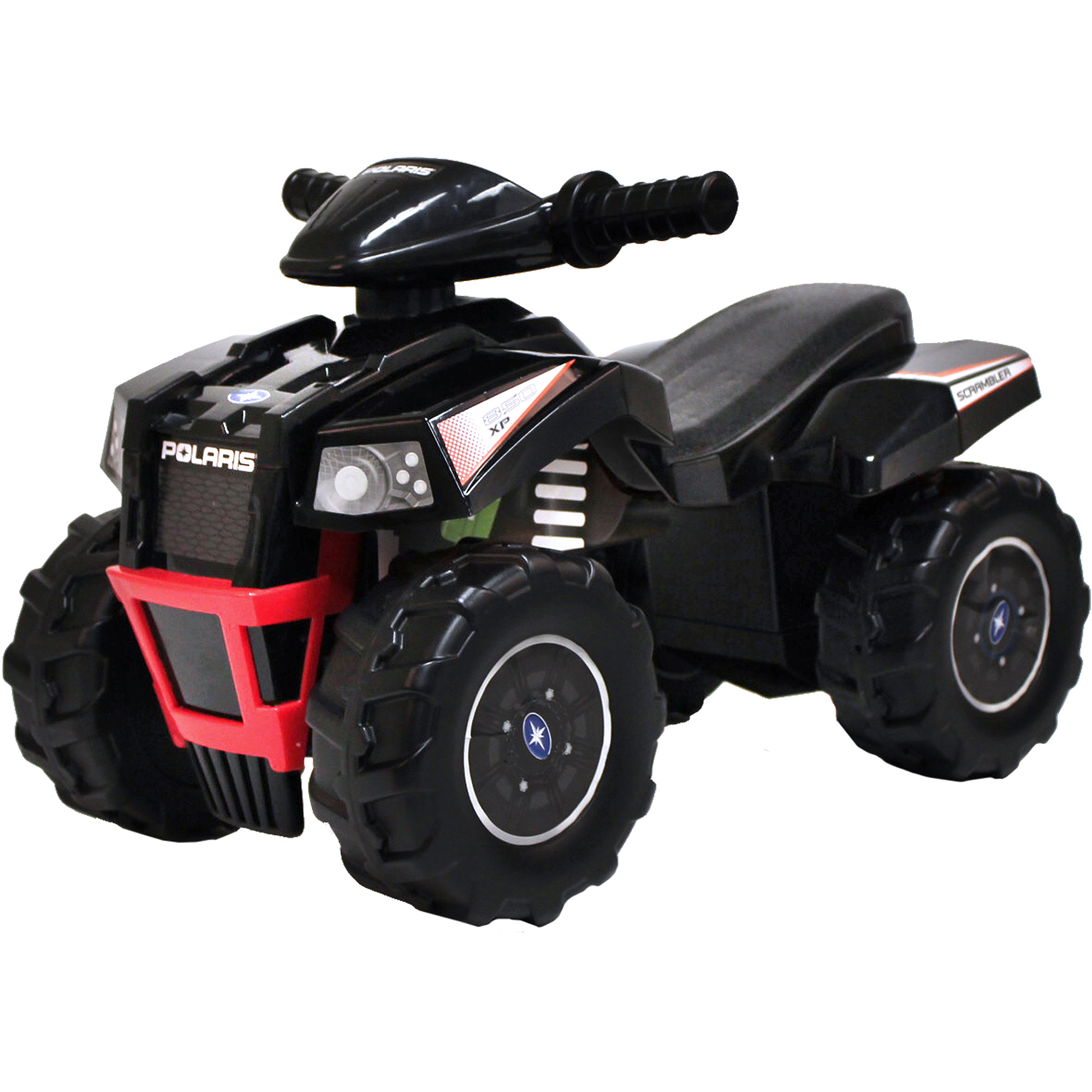Polaris Scrambler ATV Ride-On, Black