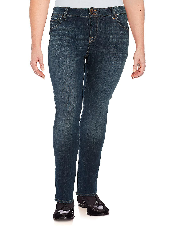 Lucky Brand Women's Plus-Size Emma Straight-Leg Jean In Tiburon
