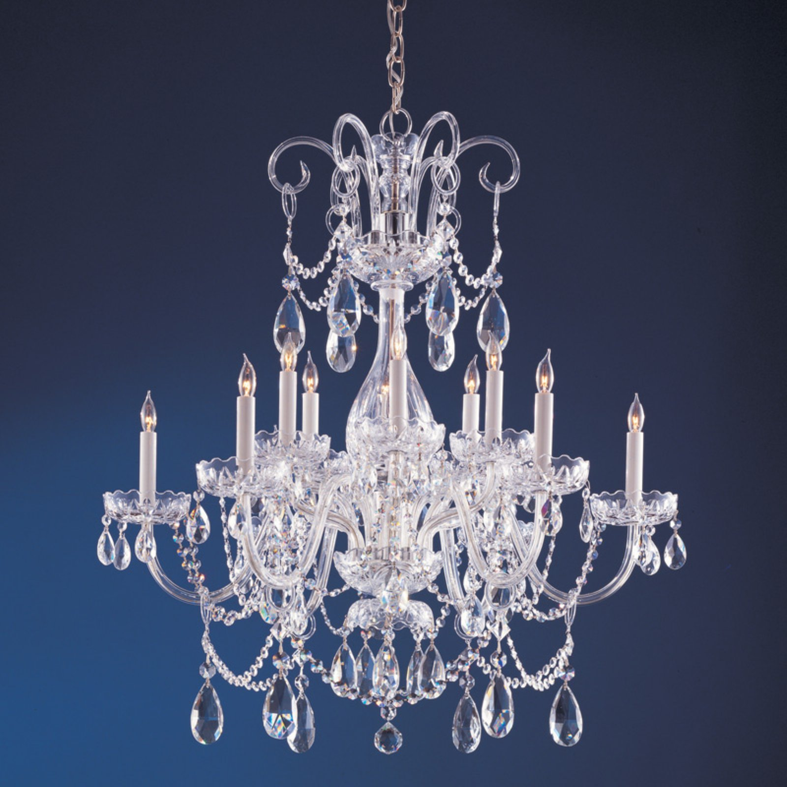 Crystorama 1035-CH-CL-MWP Traditional Crystal Chandelier 32W in. by Crystorama