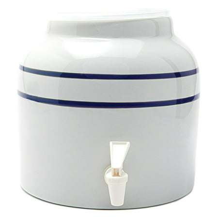 Goldwell Enterprises Inc DW141 2-1/2 Gal White Porcelain Water Dispenser Crock ()