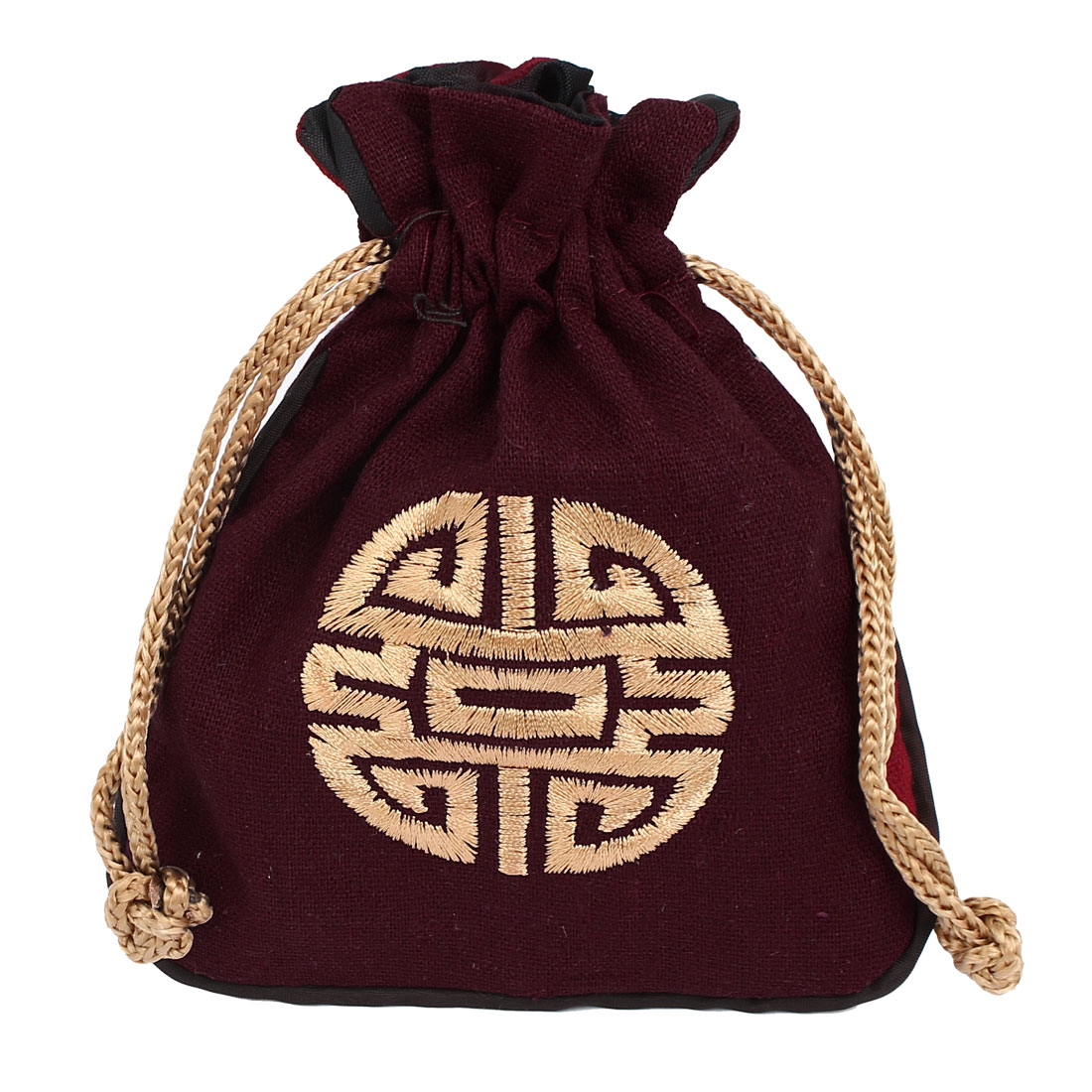 Drawstring Wedding Party Favor Candy Jewelry Gift Coin Packaging Bag Pouch Red