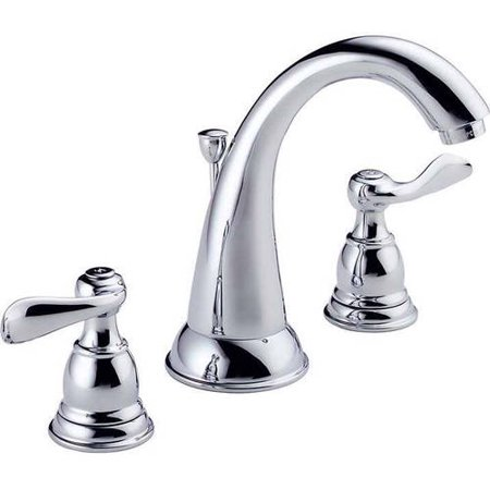 California Faucets Widespread Faucet (Delta Windemere Two Handle 8 in. Widespread Lavatory Faucet in Chrome B3596LF )