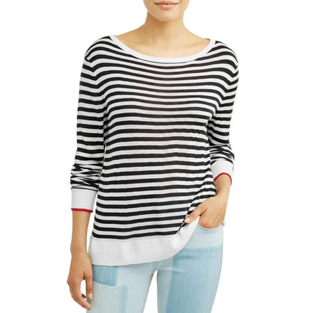 Boat Neck Striped Sweater - Maternity Striped Sweater