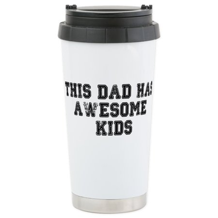 CafePress - This Dad Has Awesome Kids Stainless Steel Travel M - Stainless Steel Travel Mug, Insulated 16 oz. Coffee - This Is Halloween Tumblr