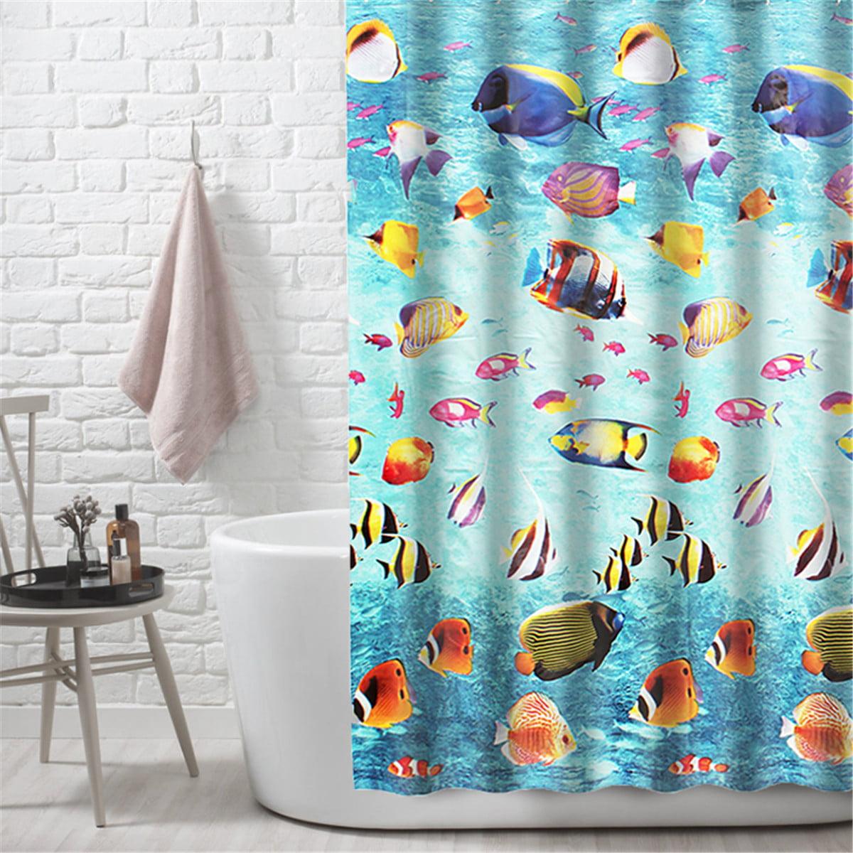 Underwater Shower Curtain Ocean Transparent Underwater Landscape With Tropical Fish Eva Clear Plastic Bathroom Shower Curtain Mildew Resistant Waterproof 70x70 Inches Walmart Com Walmart Com