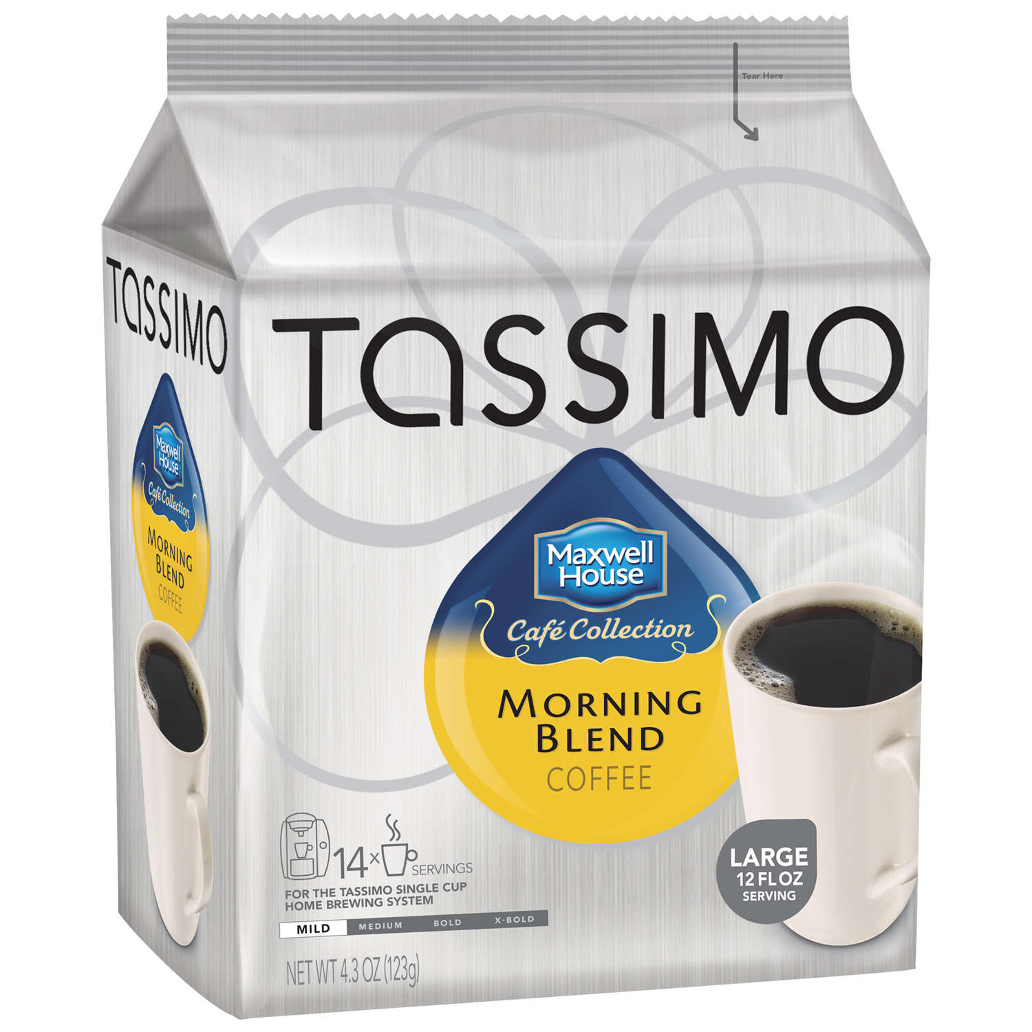 Tassimo Maxwell House Café Collection Morning Blend Coffee T Discs 14 ct Bag