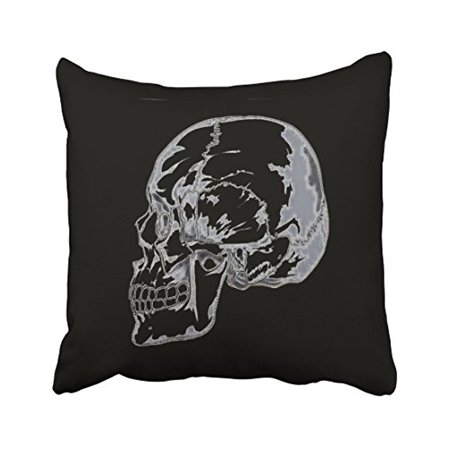 WinHome Vintage Abstract Skull Pattern Halloween Hand Painted Polyester 18 x 18 Inch Square Throw Pillow Covers With Hidden Zipper Home Sofa Cushion Decorative Pillowcases](Halloween Patterns To Paint)