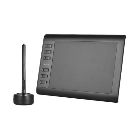 Bosto 1060 Plus Digital Graphic Drawing Painting Animation Tablet Pad 10'' * 6'' Working Area 8192 Level Pressure Sensitivity with Wireless Battery-free -