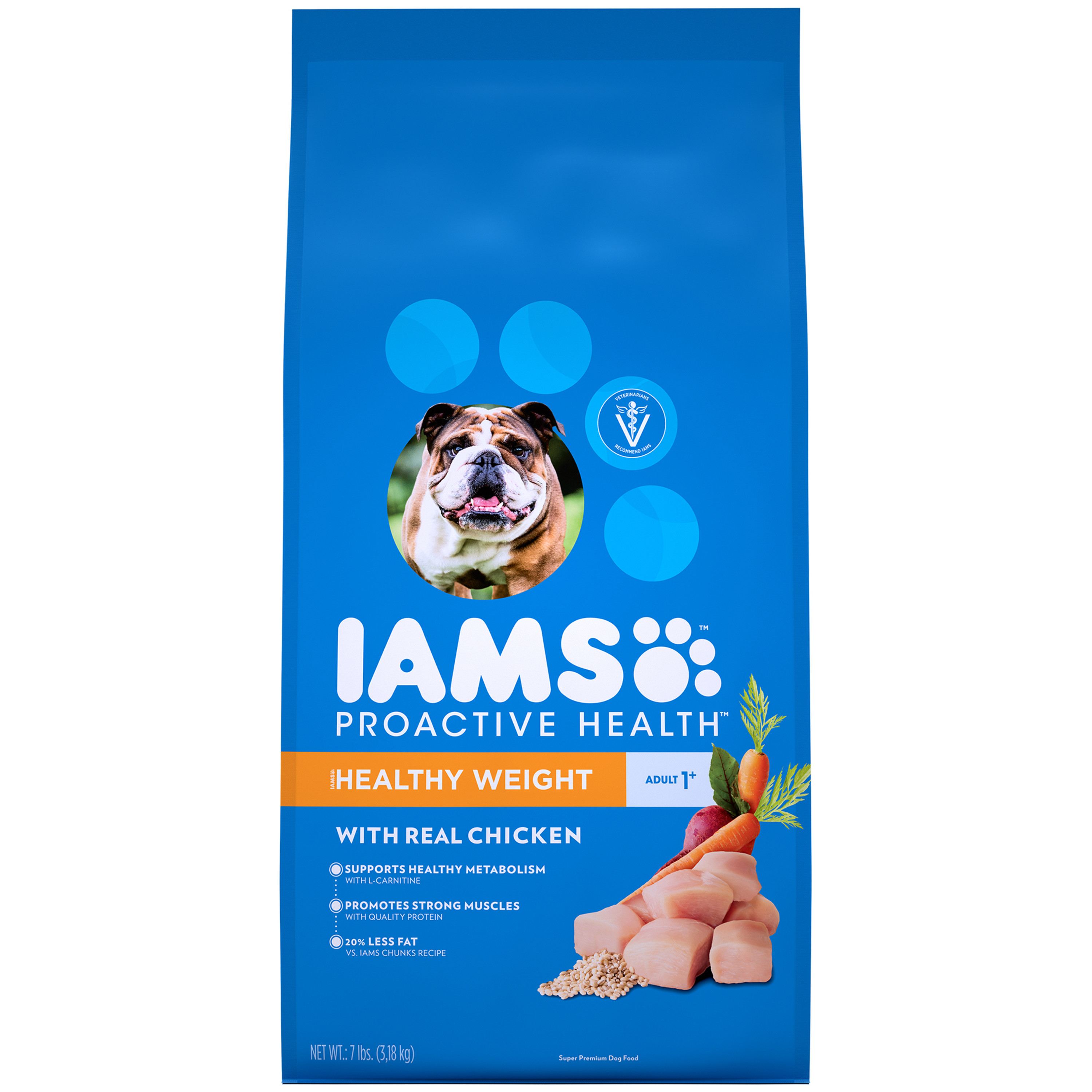 Iams Proactive Health Healthy Weight Dry Dog Food, Chicken, 7 Lb