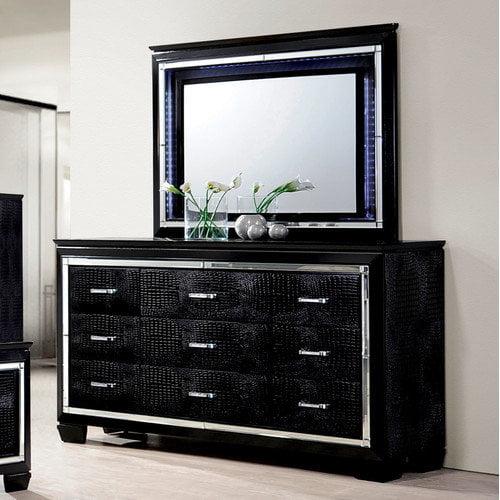 Hokku Designs Timsah 9 Drawer Dresser with Mirror