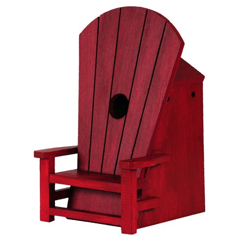 Outside Inside Adirondack Chair 10 in x 6 in x 6.25 in Songbird House