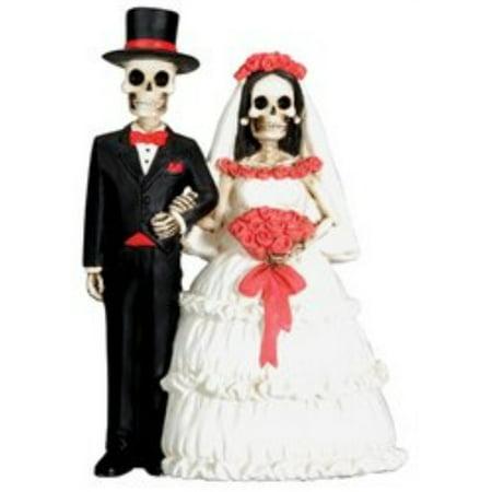 Wedding Skeleton Couple Dia de los Muertos Day of the Dead Figurine