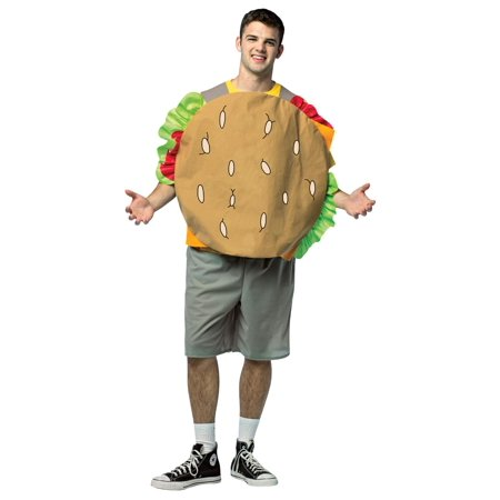 Brown Bob's Burgers Gene Men Adult Halloween Costume - One (Halloween Bob's Burgers Restaurant)