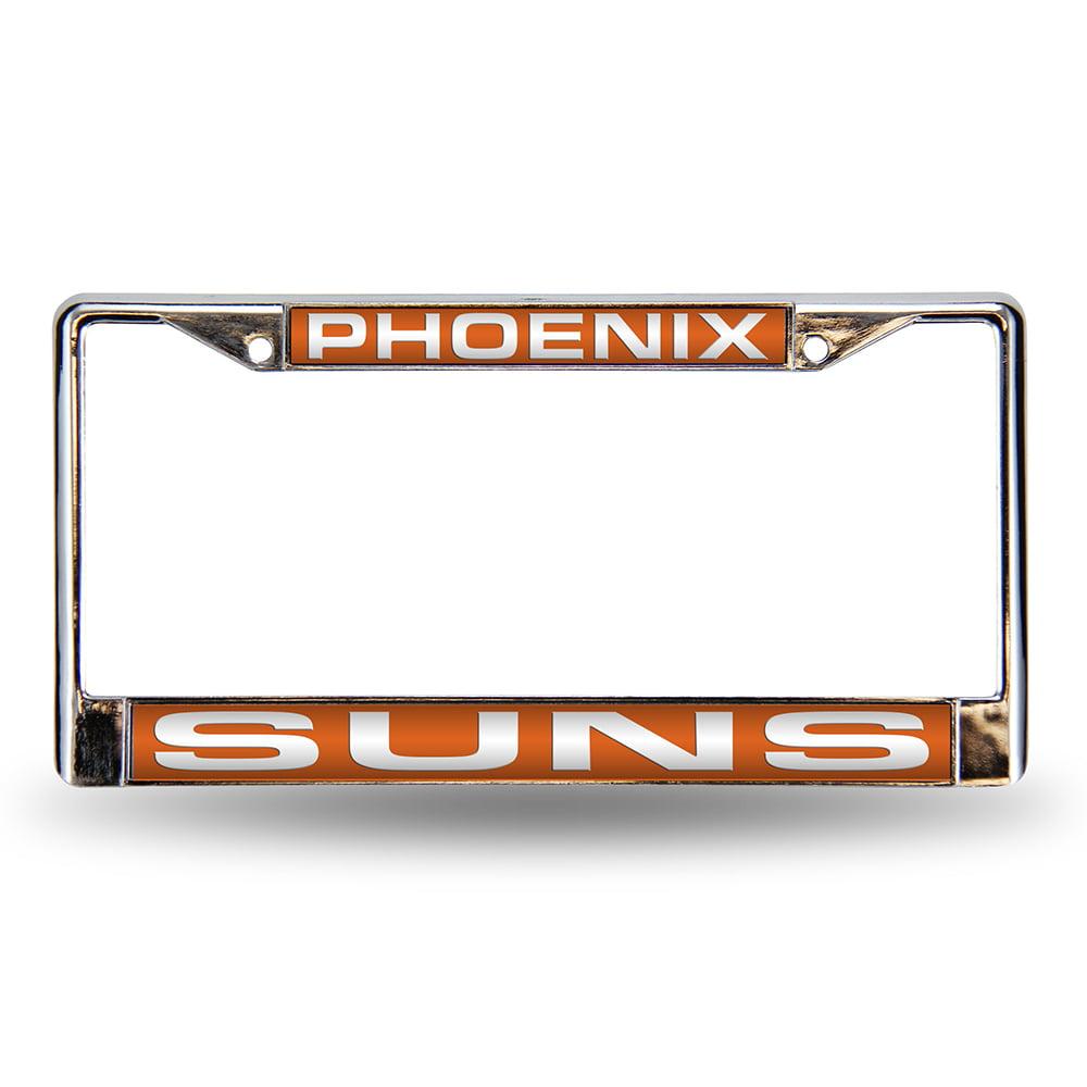 Phoenix Suns Laser Etched Chrome License Plate Frame