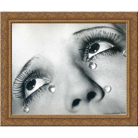 Glass tears 24x20 Gold Ornate Wood Framed Canvas Art by Ray, Man