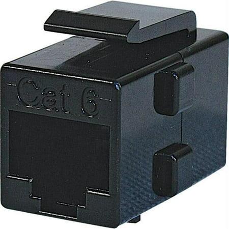 Steren CAT6 Keystone In-Line Coupler - Black - 310-043BK - image 1 de 1