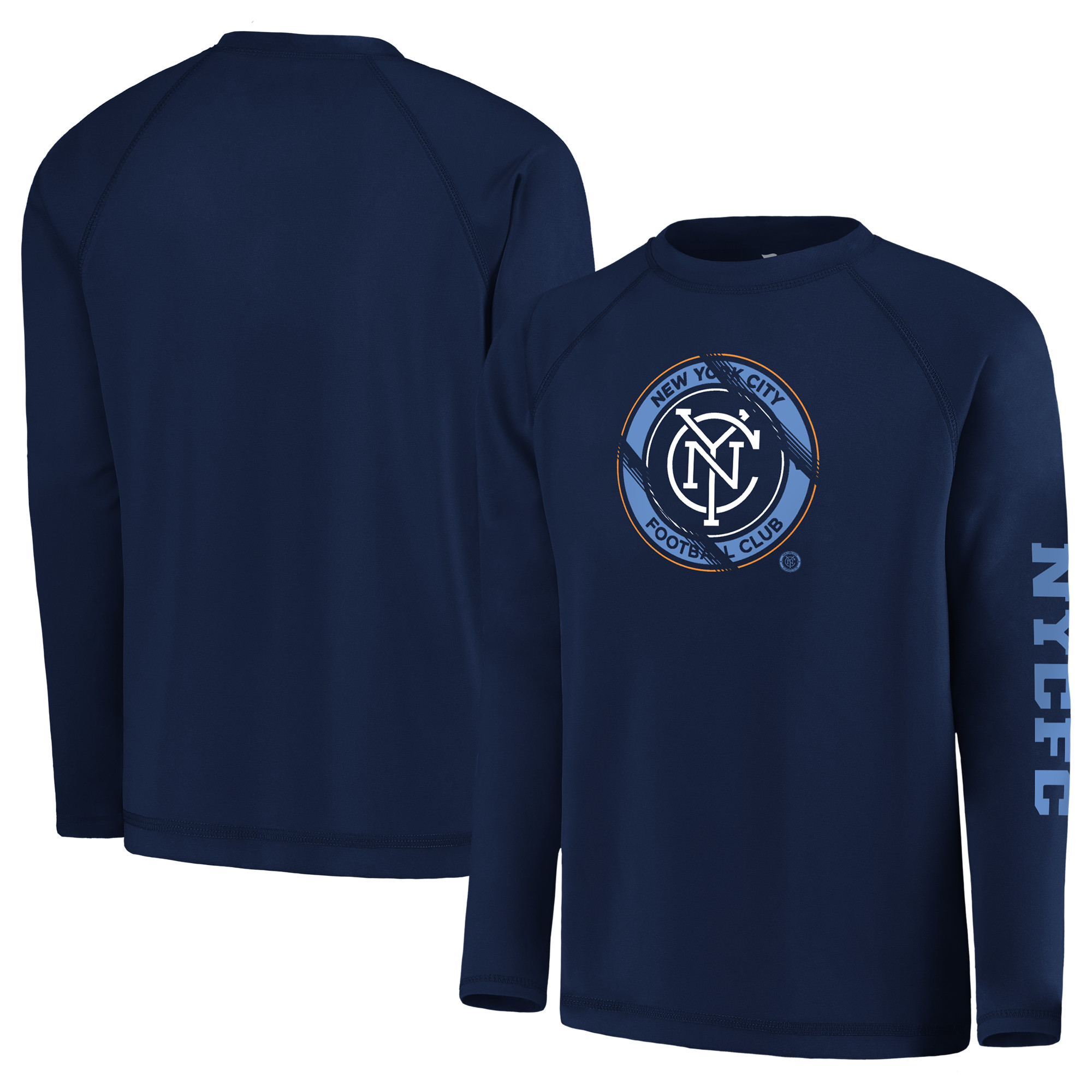 New York City FC Fanatics Branded Youth Vital to Success Long Sleeve T-Shirt - Navy