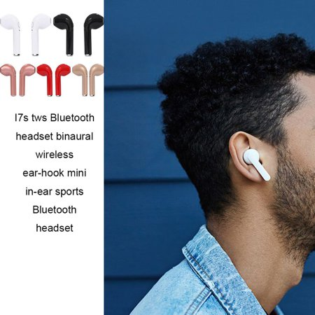 New i7s Headset With Charging Bin Wireless Binaural Painless Ear-mounted Sports Headset - image 4 de 7