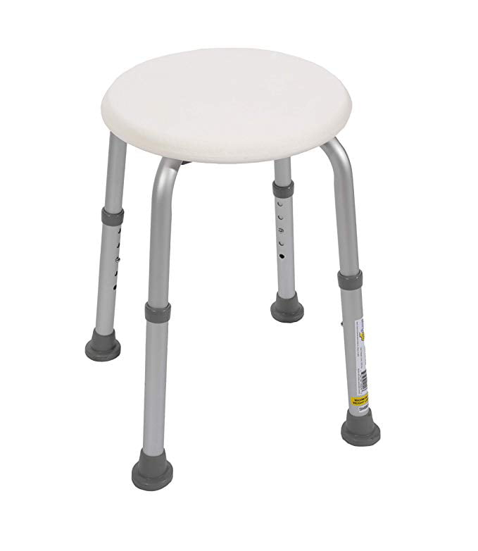 Awesome Essential Medical Supply Bath And Shower Stool With Adjustable Legs White Walmart Com Unemploymentrelief Wooden Chair Designs For Living Room Unemploymentrelieforg