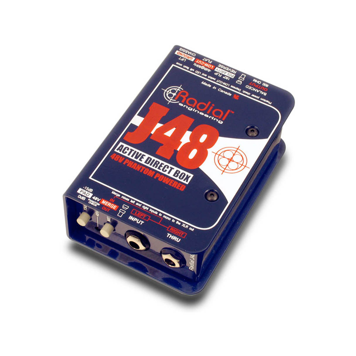 Radial Engineering J48 Single Chanxnel Active Direct Box by Radial Engineering