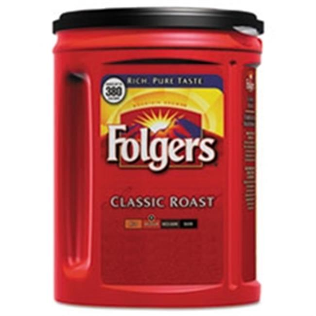 Folgers Coffee, Classic Roast, 48 Oz Canister, 6/carton