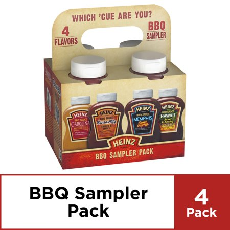 Heinz BBQ Sampler Pack, 4 ct - 45.5 oz Package