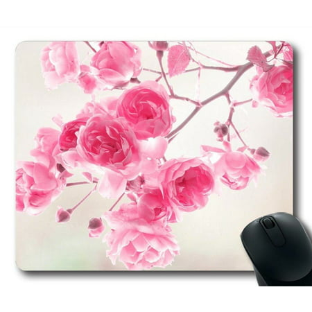 POPCreation Pink Flowers Mouse pads Gaming Mouse Pad 9.84x7.87 inches