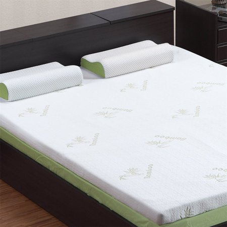 Langria 3 Inch Twin Mattress Toppers Memory Foam Bed