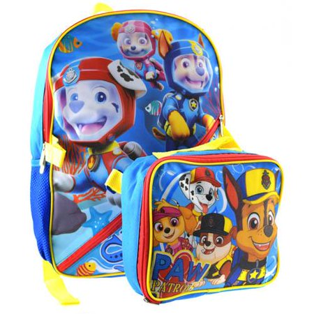 Backpack Insulated Bag - Licensed NEW Paw Patrol Backpack with Detachable Insulated Lunch Bag
