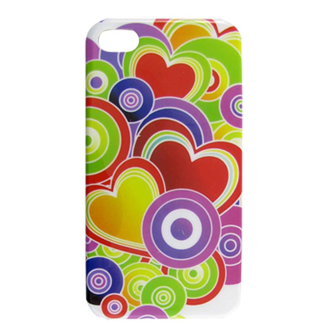 Hard Plastic IMD Pastel Heart Print Back Case for iPhone 4 4S - image 1 of 1