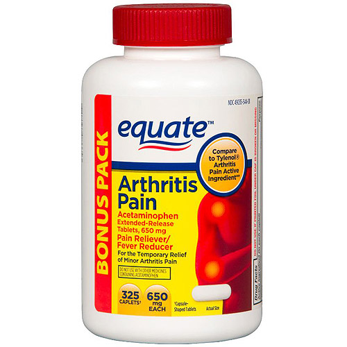 Equate Arthritis Pain Acetaminophen Pain Reliever/Fever Reducer Extended-Release Caplets, 650mg, 325 count