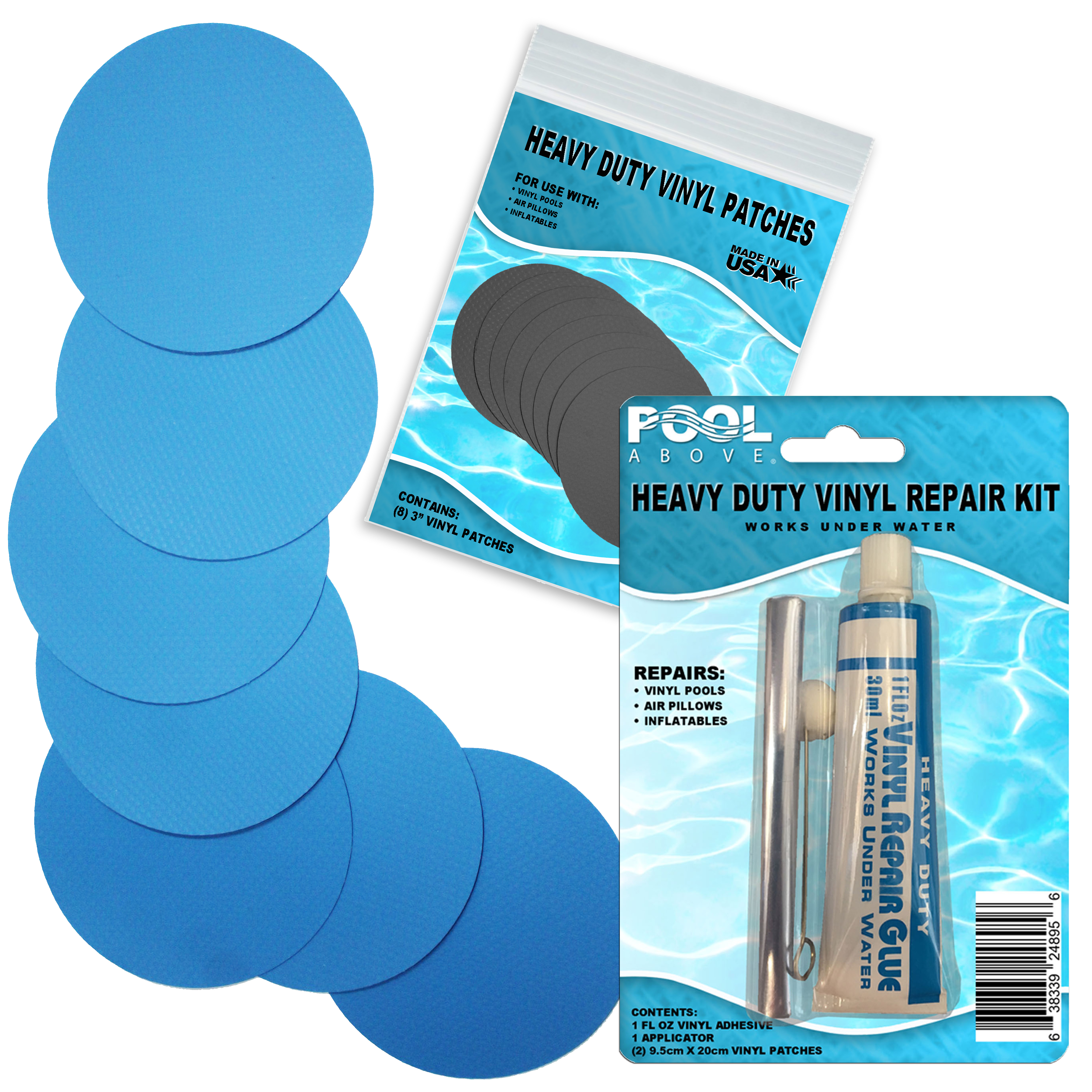 Heavy Duty Vinyl Repair Patch Kit for Inflatables Boat Raft Kayak Air Beds …
