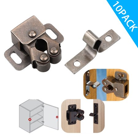Strong door pulling force of 4.5-5.5 Lbs. Sturdy catch provides a secure door closure. Oil-rubbed bronze color, anti-rust.