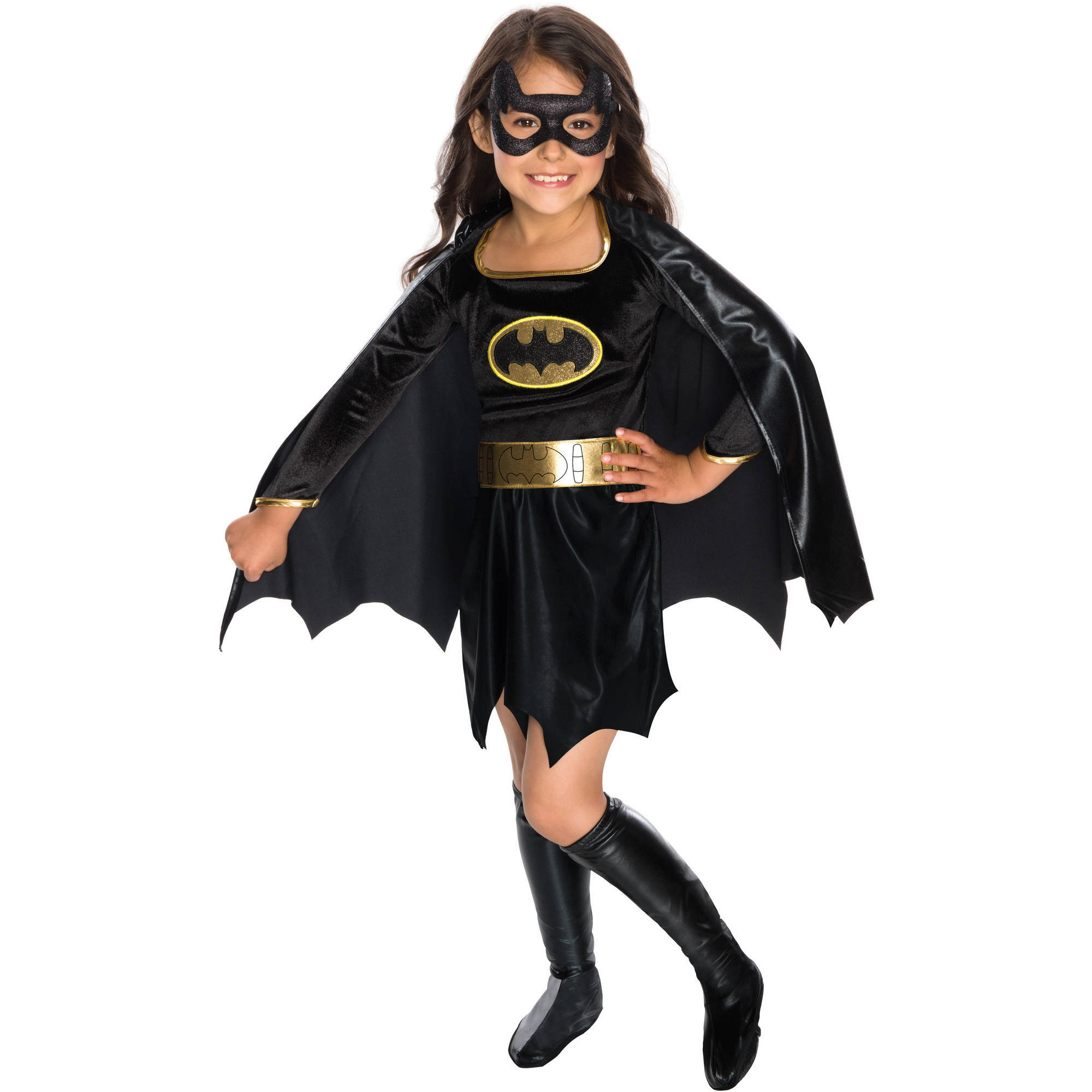 Batrgirl Child Velvet Deluxe Dress Halloween Costume