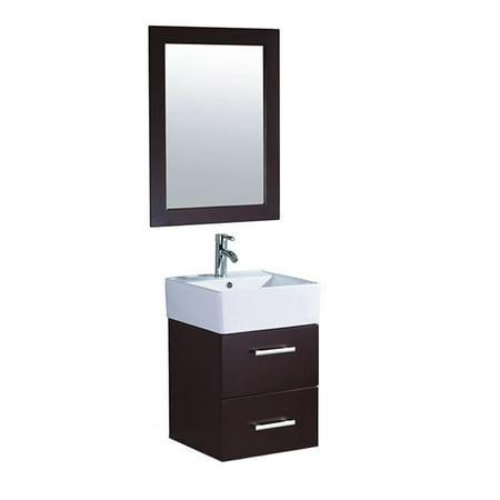 mtd vanities mtd 8139w nepal 18 inch single sink wall mounted bathroom