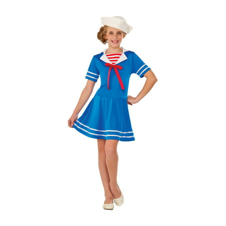 Sea Sweetie Navy Sailor Girl Retro Old Fashion Military Girls Dress (Women's Sailor Dress)