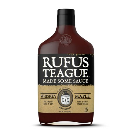 Rufus Teague Made Some Sauce, Whiskey Maple, 16 Fl Oz Whiskey Grilling Sauce