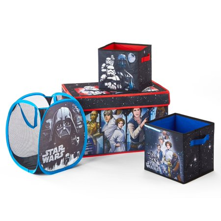 Star Wars 4 Piece Collapsible Storage Set ( 1 storage trunk, 2 storage cubes, 1 hamper)