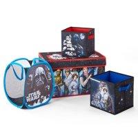 Star Wars 4-Piece Collapsible Storage Set, (Trunk, Hamper, 2-Cubes)