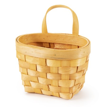 Woodchip Wall Basket: 6.25 inches ()
