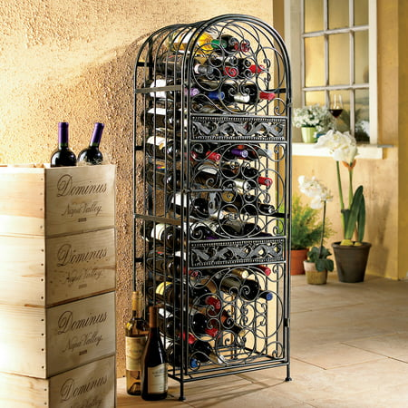 45-Bottle Renaissance Wrought Iron Wine Jail ()